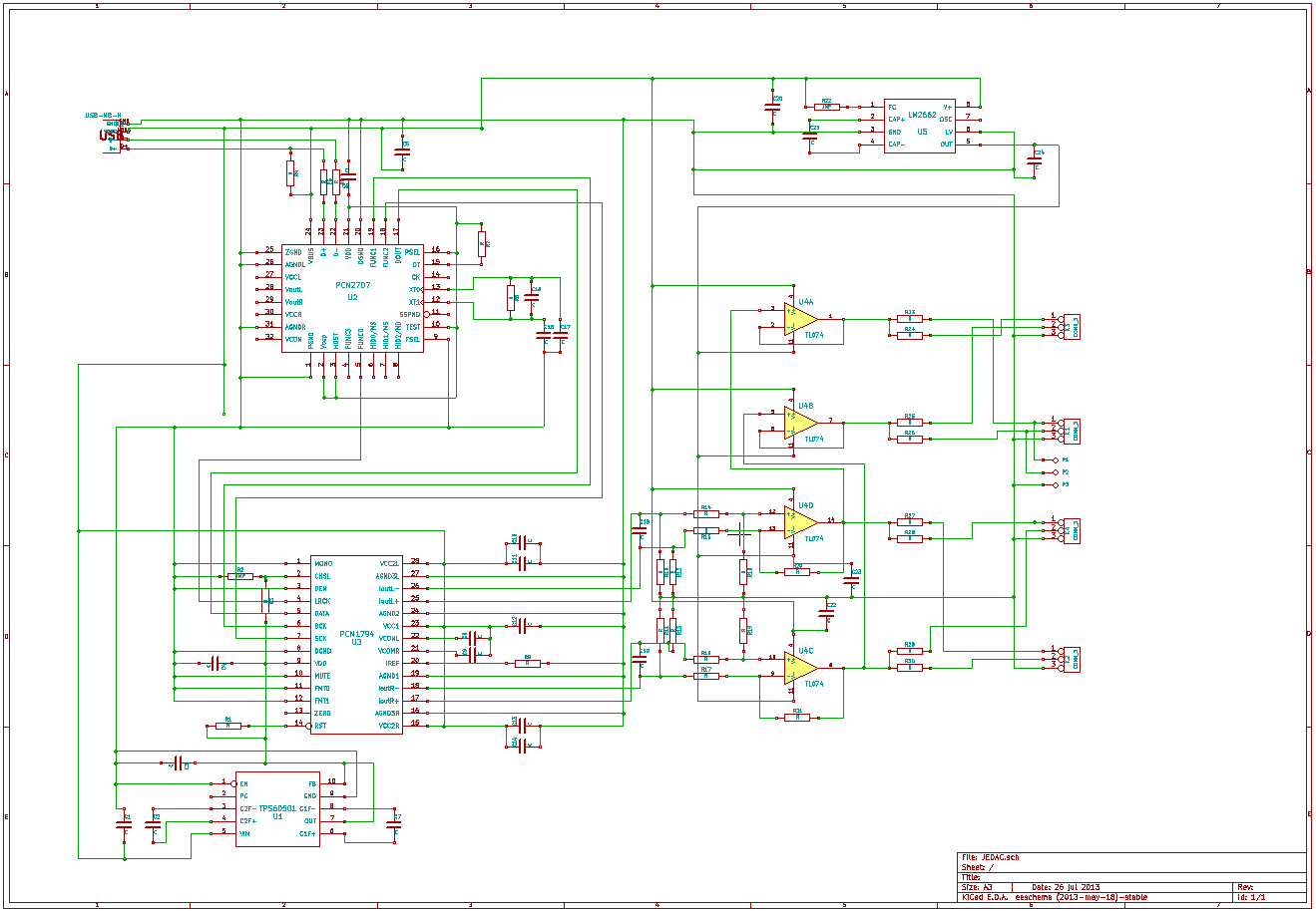 Jedac Yet Another Take On A Diy High End Usb Audio Dac Control Board Wiring Diagram Circuit Description